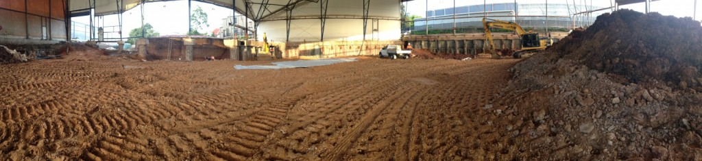 Backfilling near completion