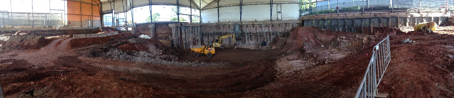 Backfilling of excavated area