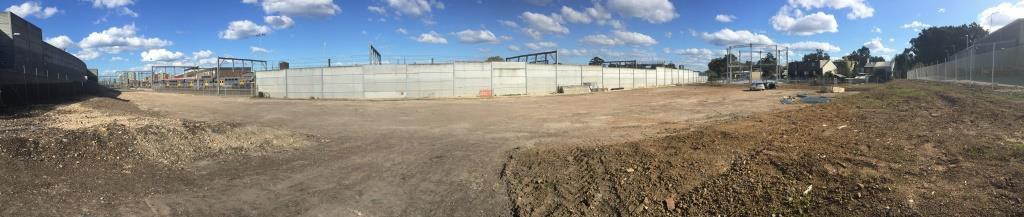 Site immediately after the completion of the remediation project